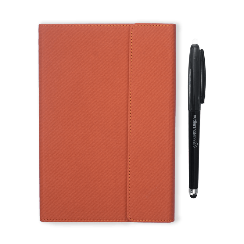 Outliers Notebook Orange